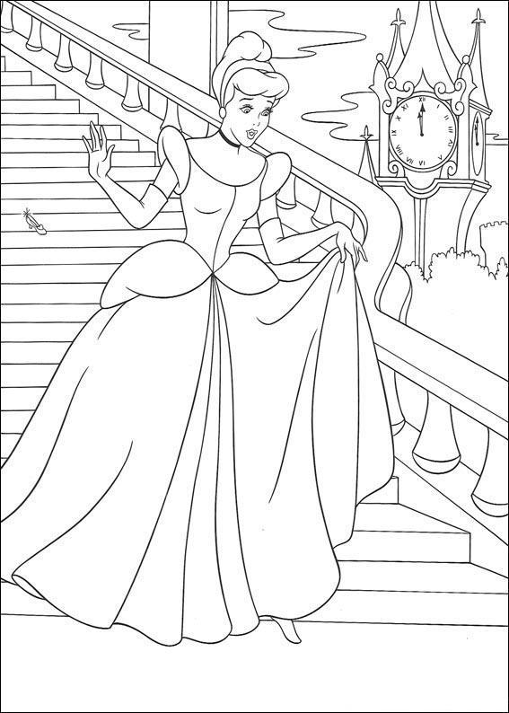 Gratis ausmalbilder für Kindern. Malbuchvorlagen Prinzessin ...